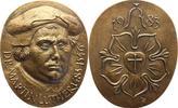 Ovale Bronzegussmedaille 1983 Reformation 500.Geburtstag Martin Luthers... 85,00 EUR  plus 5,00 EUR verzending