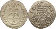 Dreier 1682 Sachsen-Neu-Weimar Johann Ernst 1662-1683. Sehr schön  25,00 EUR kostenloser Versand