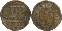 IIII Heller 1755 Hessen-Kassel Wilhelm VIII. 1751-1760. Belag, fast seh... 25,00 EUR kostenloser Versand