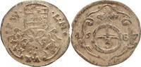 Dreier 1687  BA Sachsen-Neu-Weimar Wilhelm Ernst 1683-1728. Sehr schön  60,00 EUR kostenloser Versand