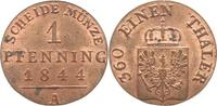 1 Pfennig 1844  A Brandenburg-Preußen Friedrich Wilhelm IV. 1840-1861. ... 45,00 EUR kostenloser Versand