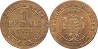 1 Pfennig 1872  B Sachsen-Albertinische Linie Johann 1854-1873. Patina,... 45,00 EUR kostenloser Versand