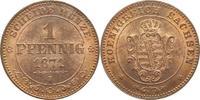 1 Pfennig 1871  B Sachsen-Albertinische Linie Johann 1854-1873. Prachte... 65,00 EUR kostenloser Versand