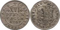 XVI Pfennig 1767 Anhalt-Zerbst Friedrich August 1747-1793. Schöne Patin... 125,00 EUR kostenloser Versand