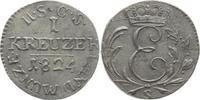 1 Kreuzer 1824  S Sachsen-Coburg-Saalfeld Ernst 1806-1826. Sehr selten,... 85,00 EUR kostenloser Versand