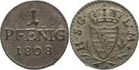 1 Pfennig 1808 Sachsen-Coburg-Saalfeld Ernst 1806-1826. Vorzüglich-präg... 75,00 EUR kostenloser Versand
