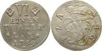 1/6 Taler 1759 Anhalt-Bernburg Victor Friedrich 1721-1765. Sehr selten,... 145,00 EUR kostenloser Versand