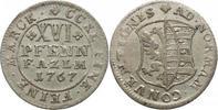 XVI Pfennig 1767 Anhalt-Zerbst Friedrich August 1747-1793. Sehr schön+  75,00 EUR kostenloser Versand