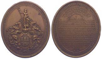 Bronzemedaille 1858 Kuba (Cuba) Isabel II....