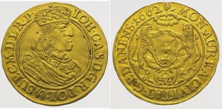 Polen-Danzig Dukat  Gold 1662 Vorzüglich J...