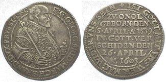 1/2 Taler 1603 Brandenburg-Franken Georg F...