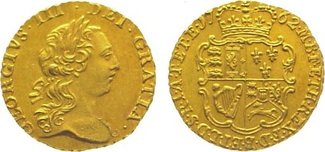 Quarter Guinea Gold 1762 Großbritannien George III. 1760-1820. Vorzüglich - Stempelglanz