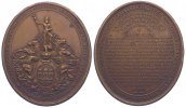 Kuba Ovale Bronzemedaille 1858 Fast vorzg...