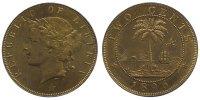 Cu 2 Cents 1896 Liberia Republik seit 1847. Vorzüglich  75,00 EUR  zzgl. 5,00 EUR Versand