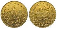 100 Piaster Gold 1293 AH Türkei Abdul Hami...