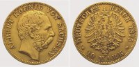 Sachsen 10 Mark  Gold Albert 1873-1902.