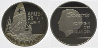 Niederlndisch Antillen-Aruba 25 Florin Beatrix seit 1980.