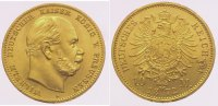 Preußen 10 Mark  Gold Wilhelm I. 1861-1888.