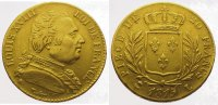 Frankreich 20 Francs  Gold Ludwig XVIII. 1814, 1815-1824.