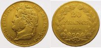Frankreich 20 Francs  Gold Louis Philipp 1830-1848.