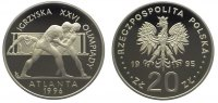Polen 20 Zlotych 1995 Polierte Platte Republik nach 1989. 54,00 EUR 