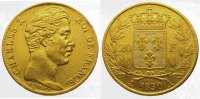 Frankreich 20 Francs  Gold Charles X. 1824-1830.