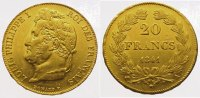 Frankreich 20 Francs  Gold 1841 A Vorz&uuml;glich Louis Philipp 1830-1848. 335,00 EUR 