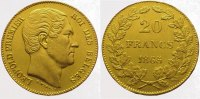 Belgien, K&ouml;nigreich 20 Francs  Gold 1865 Vorz&uuml;glich Leopold I. 1830-1865. 295,00 EUR 