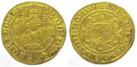Niederlande-Geldern, Grafschaft Goldgulden, Gold Wilhelm von Jlich 1377-1402.