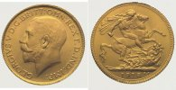Indien Sovereign  Gold George V. 1910-1936.