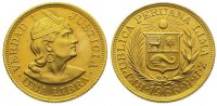 Peru Libra  Gold Republik seit 1821/1825.