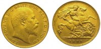 Großbritannien 1/2 Sovereign  Gold Edward VII. 1901-1910.