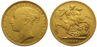 Australien Sovereign  Gold Victoria 1837-1901.