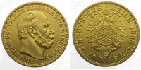 Preußen 20 Mark  Gold Wilhelm I. 1861-1888.