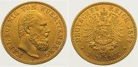 5 Mark Gold 1877  F Württemberg Karl 1864-1891. Vorzüglich  675,00 EUR kostenloser Versand