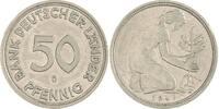 50 Pfennig 1949  D Bundesrepublik Deutschland  Vorzüglich  10,00 EUR  zzgl. 5,00 EUR Versand