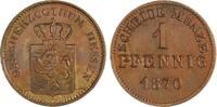 Cu Pfennig 1870 Hessen-Darmstadt Ludwig III. 1848-1877. Vorzüglich  10,00 EUR  zzgl. 5,00 EUR Versand