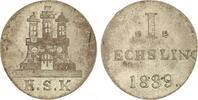 Sechsling 1839 Hamburg, Stadt  Vorzüglich  25,00 EUR  zzgl. 5,00 EUR Versand