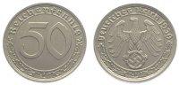 50 Pfennig 1939  A Drittes Reich  Prachtexemplar. Fast Stempelglanz  85,00 EUR  zzgl. 5,00 EUR Versand