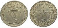 6 Grote 1861 Bremen, Stadt  Vorzüglich +  60,00 EUR  zzgl. 5,00 EUR Versand