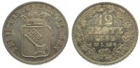 12 Grote 1859 Bremen, Stadt  Schöne Patina. Vorzüglich - Stempelglanz  70,00 EUR  zzgl. 5,00 EUR Versand