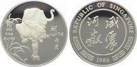 1986 Singapur  Polierte Platte  185,00 EUR  zzgl. 5,00 EUR Versand