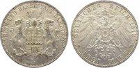 3 Mark 1913  J Hamburg  Vorzüglich  40,00 EUR  zzgl. 5,00 EUR Versand