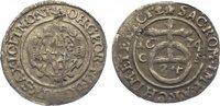 1/24 Taler 1674  CR Sachsen-Albertinische Linie Johann Georg II. 1656-1... 25,00 EUR  zzgl. 5,00 EUR Versand