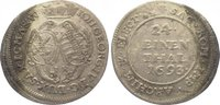 1/24 Taler 1693  IK Sachsen-Albertinische Linie Johann Georg IV. 1691-1... 25,00 EUR  zzgl. 5,00 EUR Versand