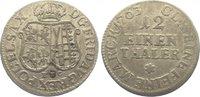 1/12 Taler 1763 Sachsen-Albertinische Linie Friedrich August II. 1733-1... 25,00 EUR  zzgl. 5,00 EUR Versand