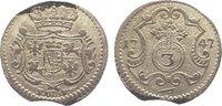 3 Pfennig 1747 Sachsen-Albertinische Linie Friedrich August II. 1733-17... 95,00 EUR  zzgl. 5,00 EUR Versand