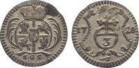 3 Pfennig 1728 Sachsen-Albertinische Linie Friedrich August I. 1694-173... 85,00 EUR  zzgl. 5,00 EUR Versand