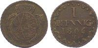 Cu Pfennig 1806  H Sachsen-Albertinische Linie Friedrich August III. 17... 10,00 EUR  zzgl. 5,00 EUR Versand
