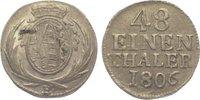 1/48 Taler 1806  H Sachsen-Albertinische Linie Friedrich August III. 17... 15,00 EUR  zzgl. 5,00 EUR Versand